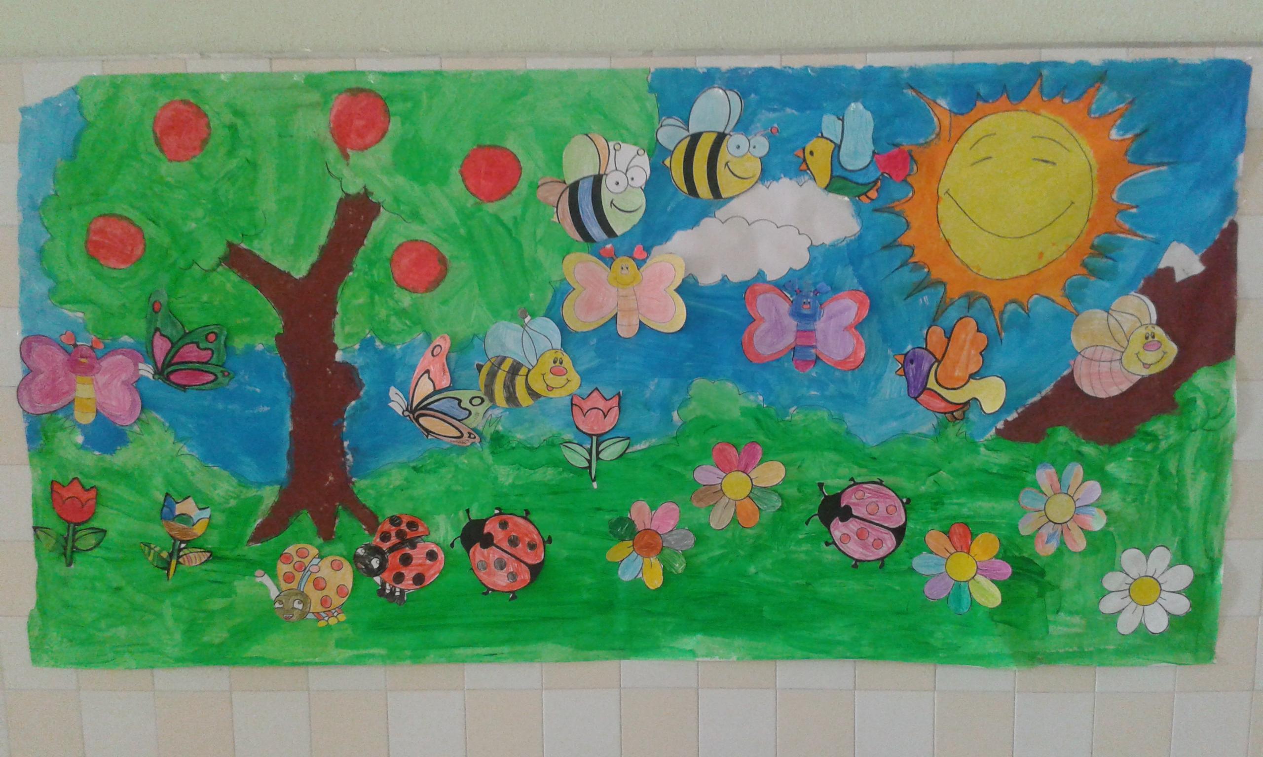 Los alumnos de primero preparan en la asignatura de arts for Como decorar un mural